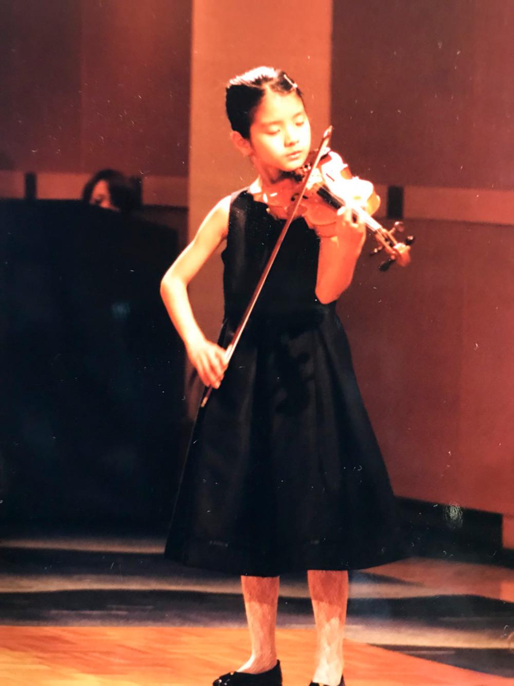 ヴァイオリン幼少期