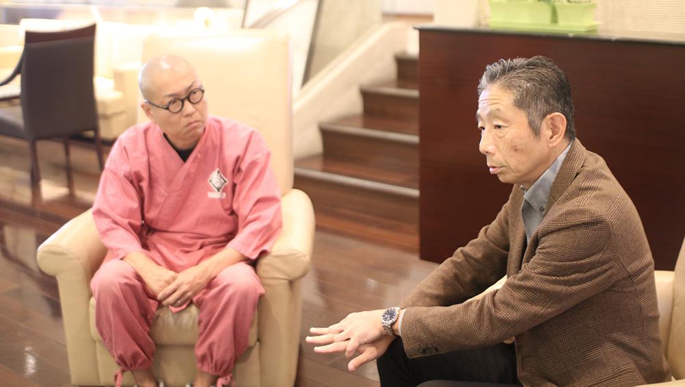花田氏(左)と西田氏(右)