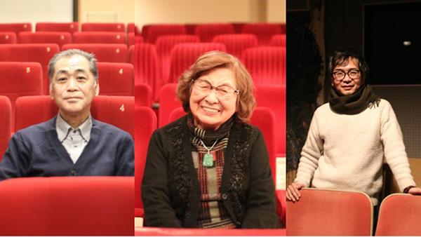 田井肇さん(左)岡村照さん(中央)原茂樹さん(右)
