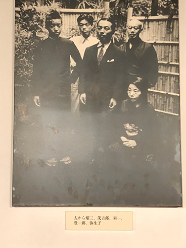 野上弥生子 家族写真